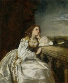 See how she leans her cheek upon her hand! O that I were a glove upon that hand, That I might touch that cheek!  ~ William Shakespeare  Painting: Juliet by William Powell Frith  http://40.media.tumblr.com/55ee05721e0fb6cf2cef41269b467781/tumblr_nj9psehgFK1r7pnlao1_1280.jpg