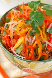 Carrot, Jicama & Sweet Pepper Slaw