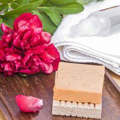 DIY-Kosmetik-Rezept für Seife für die Haare mit Pfingstrosenduft - Shampoo-Seife aus nur 3 Zutaten