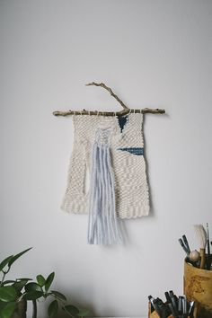 Alessandra Taccia woven branch mobile (via Fine Little Day blog)