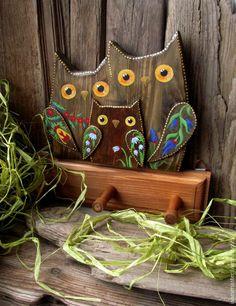 Вешалка Семья-совы, #art #ручнаяработа #handmade #вдохновение #inspiration #home #дом #дизайн #design