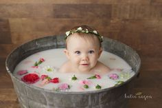 Precious Baby Milk Bath. Milk bath ideas. Katie Eagon Photography. Walla Wallas finest. Baby Evelyn ❤