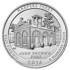 2016 America The Beautiful 5 oz. - Harper's Ferry National Park