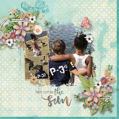 Collection: Spring A Ling by Snickerdoodle Designs. Template: A Little Bit Arty #8 by Hearstrings Scrap Art Layout by britnkaysmemaw2 #digitalscrapbooking #memorymaking #layout #inspiration #SnickerNews