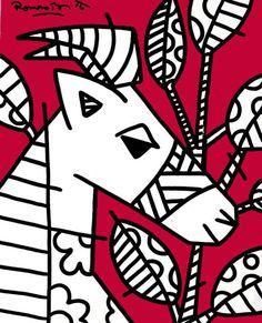White Goat - 2002 - desenho sobre tela