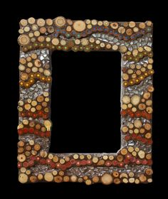 #wood #pencils #mosaic #photoframe see more on my FB https://www.facebook.com/pages/Silvia-Logi-Artworks/121475337893535?ref=br_rs