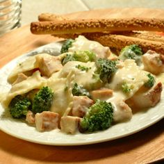 Double Chicken and Broccoli Alfredo