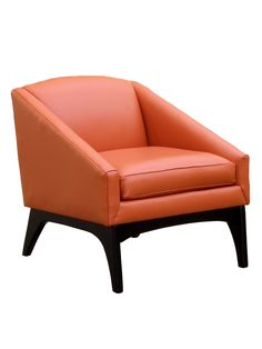 Leather Chair in Orange