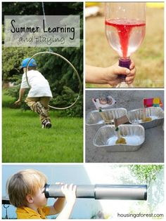 Summer Learning and Playing ~ lots of fun activities