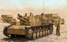 Bison II 15cm SIG 33 su Panzer II dell' Afrika Korps - Ron Volstad - Dragon