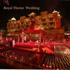 Elegant Events & Weddings committed to make your wedding an unforgettable experience for the rest of your life with latest & different wedding setups. Have a look & Contact us now!!! #Royal #Theme #Wedding