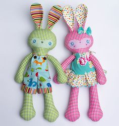 Bunny  Pattern, Softie Pattern, Toy Patterns Australia