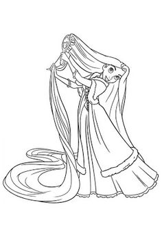 Tangled coloring pages Rapunzel horse and Flynn rider in forest. Rapunzel jumping out of joy. looking for pie Rapunzel tied him with the Rapunzel Coloring Pages, Frozen Coloring Pages, Disney Princess Coloring Pages, Disney Princess Colors, Disney Colors, Coloring Pages To Print, Coloring Book Pages, Coloring Pages For Kids, Princess Rapunzel