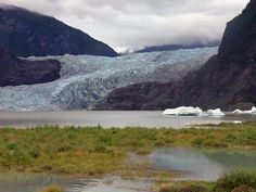 Mendenhall Glacier in September, Juneau, AK. Photo provided by Patty Dombovy.