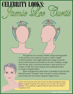 how to Jamie Lee Curtis haircut - Google Search