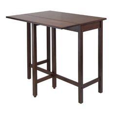 Winsome Lynnwood Drop Leaf High Table.  Folding table.