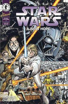 Cover art by Arthur Adams for 'Classic Star Wars: A New Hope' published June 1994 by Dark Horse Comics. Comic Book Rooms, Comic Book Artists, Comic Artist, Comic Books Art, Star Wars Comic Books, Star Wars Comics, Star Wars Art, Marvel Comics, Saga