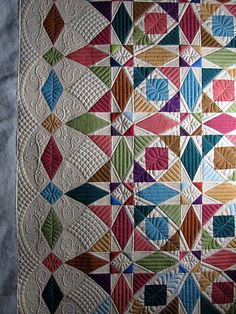 Simply beautiful quilting in purely delightful colors