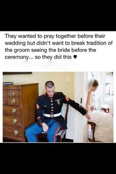 I love this idea! Especially love the fact that this is a Marine wedding :)