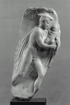 Fragment of marble vase: Hermes carrying the infant Dionysos
