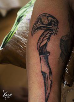 Bird Knife Tattoo