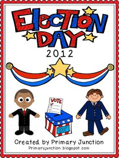 Election Day 2012 Packet - Includes Fluency Readers, Graphing Activities, Word and Letter Activities, Bubble Map Sheets, Voting Ballots, ID Cards, and Signs! Great for incorporating the 2012 United States Presidential Election into a classroom!