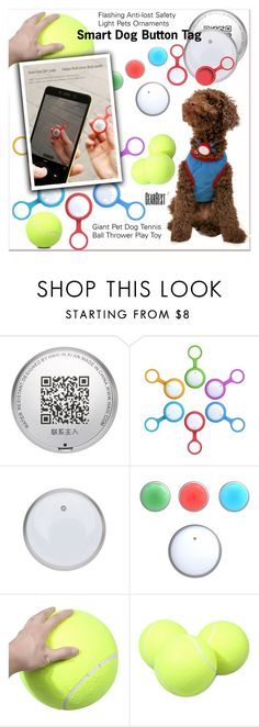 """""""smart dog button"""" by paculi ❤ liked on Polyvore featuring interior, interiors, interior design, home, home decor, interior decorating, Home, polyvoreeditorial, lkid and gearbest"""