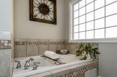 Whirlpool tub in master bath