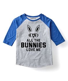 Look what I found on #zulily! Royal 'Bunnies Love Me' Raglan Tee - Toddler & Boys by Festuvius #zulilyfinds