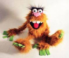 Sasquatch hand puppet by DiaboloPuppet on Etsy