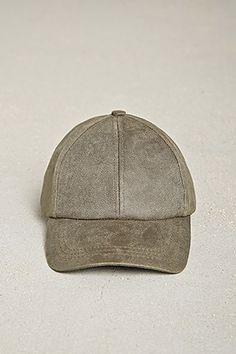 Men Faux Leather Baseball Cap