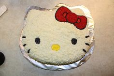 Hello Kitty cake pan that I have for Chloe's 1st birthday. Hope it turns out this good.