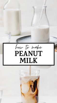 Learn how to make peanut milk with these step-by-step instructions. It's simple and a tasty dairy free milk option! #peanutmilk #homemademilk #dairyfree Best Brunch Recipes, Delicious Vegan Recipes, Healthy Breakfast Recipes, Snack Recipes, Tasty, Beef Recipes, Healthy Snacks, Milk Ingredients, Nut Milk Bag