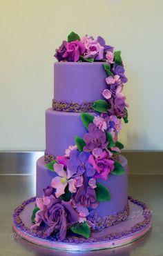 Violet wedding cake                                                                                                                                                                                 More
