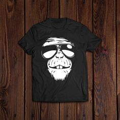 Ape Monkey Wearing Sun Glasses Awesome Cool T-Shirt Cute Tshirts, Cool T Shirts, Ape Monkey, Wearing Glasses, Branded T Shirts, Cool Stuff, Stuff To Buy, Fashion Brands, Sunglasses