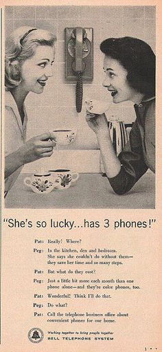 Vintage Telephone Ad by Shandeh, via Flickr
