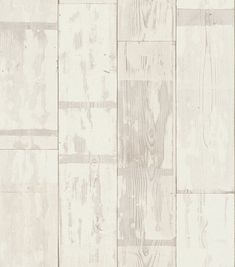 Distressed Planks Off White wallpaper by Albany