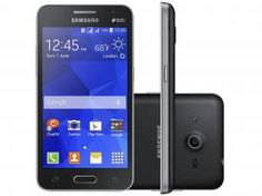 "Smartphone Samsung Galaxy Core 2 Duos Dual Chip 3G - Android 4.4 Câm. 5MP Tela 4,5"" Proc. Quad Core"