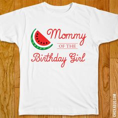 Items similar to Watermelon Birthday Iron-On - Mom/Dad/Family of the Birthday Girl - Customize for any wearer! on Etsy Girl Birthday Themes, Baby Girl First Birthday, First Birthday Parties, First Birthdays, Birthday Ideas, 2nd Birthday, Kid Parties, Watermelon Birthday Parties, Fruit Party