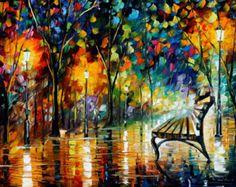 Parque de las luces  Horizontal pintura al por AfremovArtStudio
