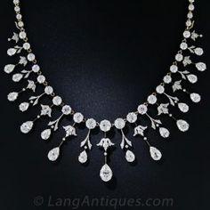 Extraordinary Edwardian Diamond Fringe Necklace - Antique