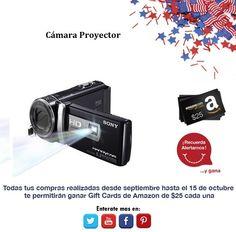 ¿Prefieres una cámara o un proyector? Observa esta super oferta.  http://amzn.com/B006K550J0