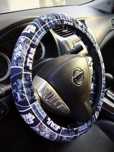 Handmade Steering Wheel Cover Star Wars Blue Darth Vader on Etsy, $15.98