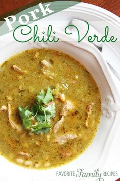 Have been looking for a great Chili Verdi recipe...