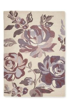 Buy Mauve Floral Rug from the Next UK online shop