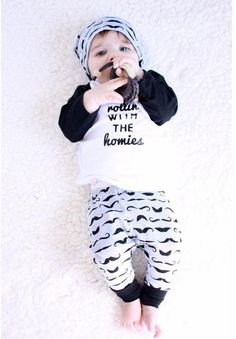 >> Click to Buy << Spring/Autumn Baby Boy Clothing 2 Pieces Set  100% Cotton Patchwork  tShirt + Striped Pants Suit Long Sleeve Pullover #Affiliate
