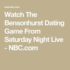 """bensonhurst dating game saturday night live This 1992 gem, """"bensonhurst dating game,"""" features chris rock and adam sandler as contestants on a dating show but not all of the contestants are treated equally by host joe pesci."""