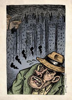 18 / Juani Navarro / Ciudades / from: La vuelta al mes en 30 ilustradores