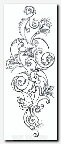 Floral Pattern Tattoos Stock Vector Artistic Tattoo Picture this would be great for my hip tattoo too Bild Tattoos, Neue Tattoos, Arm Tattoos, Flower Tattoos, Body Art Tattoos, Tribal Tattoos, Sleeve Tattoos, Skull Tattoos, Tatoos