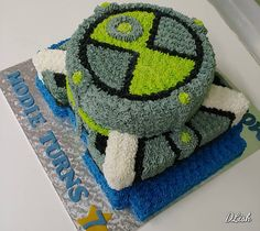 #benten #ben10 #omnitrix #piped #cake #dlish Ben 10, Cakes For Boys, Birthday Cakes, Desserts, Anniversary Cakes, Deserts, Dessert, Birthday Cake, Postres